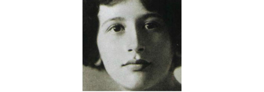 Simone Weil, zdjęcie czarnobiałe z 1921 r.