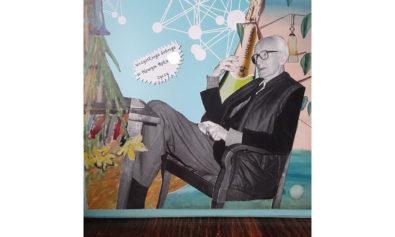 Kolorowy kolaż wykonany przez Grzegorza Kozerę. Józef Czapski