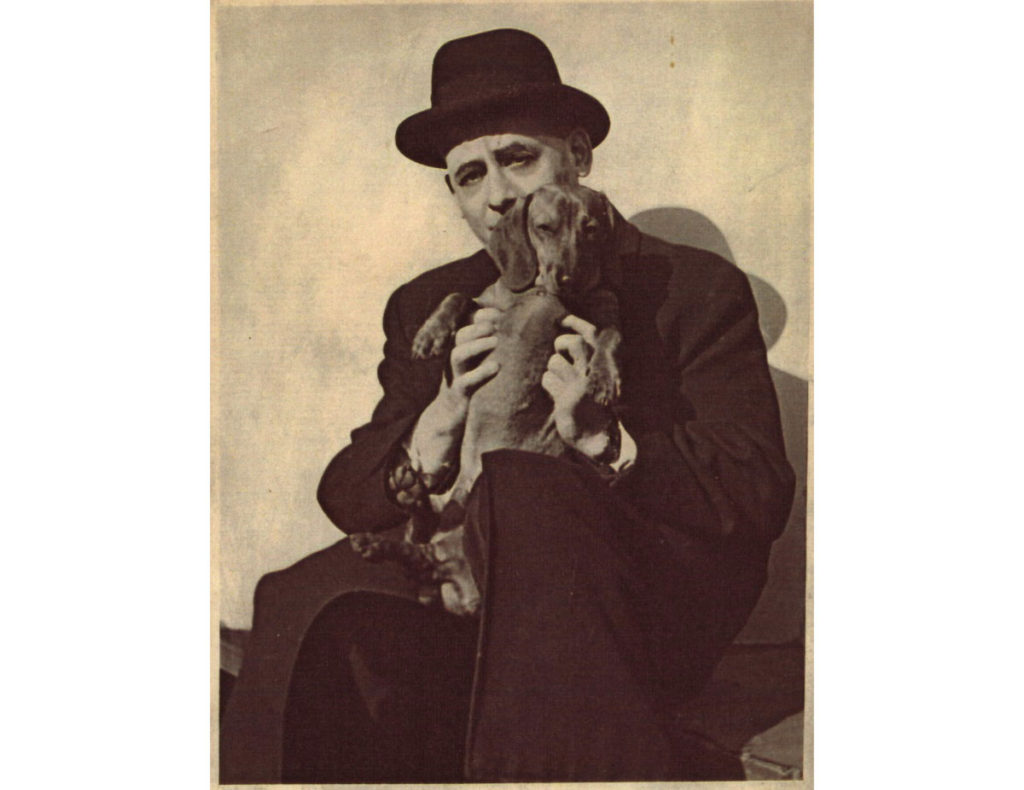 Czrano białe zdjęcie- Grydzewski z psem