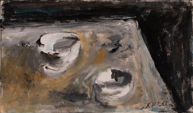 Józef Czapski, Deux bols, 1987 Huile sur toile Collection Richard et Barbara Aeschlimann © Succession Józef Czapski