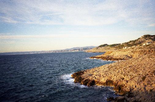 kolorowa fotografia wybrzeża