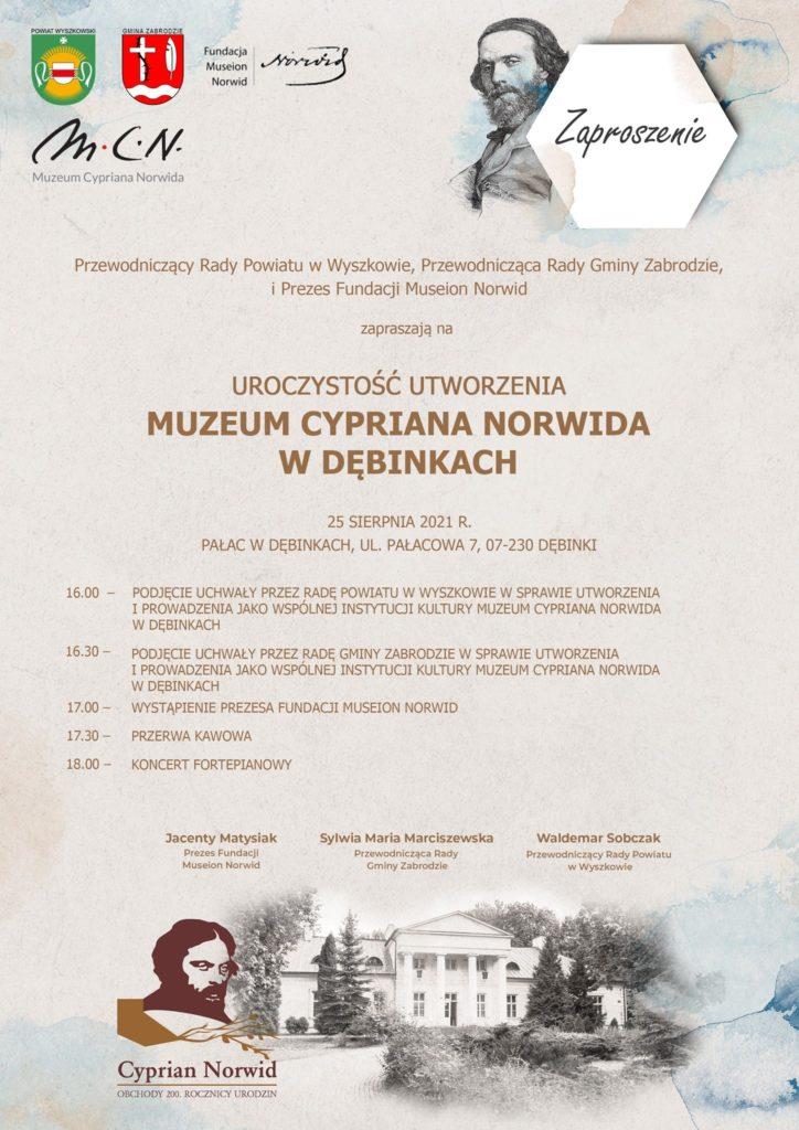 Plakat informujący o powstaniu muzeum